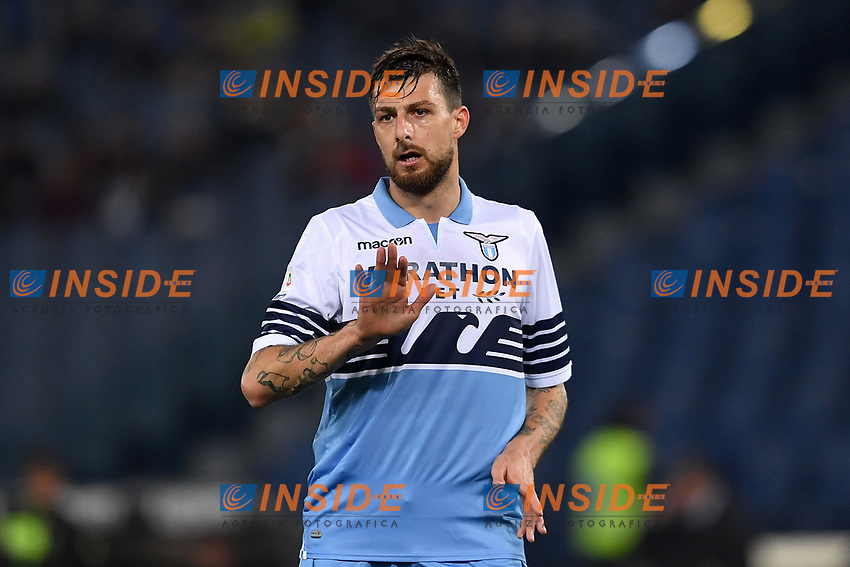 Francesco Acerbi of Lazio reacts during the Serie A 2018/2019 football match between Lazio and Empoli at stadio Olimpico, Roma, February 7, 2019 <br />  Foto Andrea Staccioli / Insidefoto