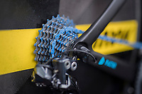 CeramicSpeed UFO produced a blue 'UFO' super friction-free coating on their chains that is being used in the #tdf2017<br /> <br /> 104th Tour de France 2017<br /> Stage 1 (ITT) - D&uuml;sseldorf &rsaquo; D&uuml;sseldorf (14km)