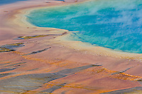 Grand Prismatic Spring detail-Midway Geyser Basin-Yellowstone National Park, Wyoming