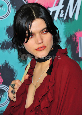 NEW YORK, NY - OCTOBER 19: SoKo, Stephanie Sokolinski attends KENZO x H&M - Arrivals at Pier 36  on October 19, 2016 in New York City. Credit: John Palmer / MediaPunch