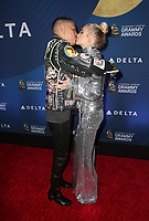WEST HOLLYWOOD, CA - FEBRUARY 7: Evan Ross, Ashlee Simpson, at the Delta Air Line 2019 GRAMMY Party at Mondrian LA in West Hollywood, California on February 7, 2019. <br /> CAP/MPIFS<br /> &copy;MPIFS/Capital Pictures