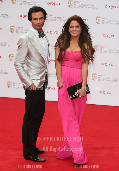 Mark Frances and Binky Felstead arriving for the TV BAFTA Awards 2013, Royal Festival Hall, London. 12/05/2013 Picture by: Alexandra Glen / Featureflash