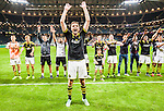 Solna 2015-08-10 Fotboll Allsvenskan AIK - Djurg&aring;rdens IF :  <br /> AIK:s Jos Hooiveld jublar framf&ouml;r AIK:s supportrar efter matchen mellan AIK och Djurg&aring;rdens IF <br /> (Foto: Kenta J&ouml;nsson) Nyckelord:  AIK Gnaget Friends Arena Allsvenskan Djurg&aring;rden DIF jubel gl&auml;dje lycka glad happy
