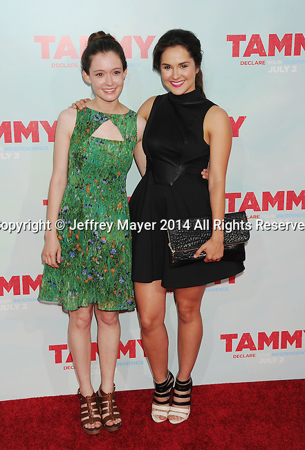 HOLLYWOOD, CA- JUNE 30: Actresses Hayley McFarland (L) and Shanley Caswell arrive at the 'Tammy' - Los Angeles Premiere at TCL Chinese Theatre on June 30, 2014 in Hollywood, California.