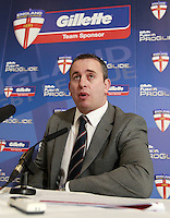 PICTURE BY CHRIS MANGNALL/SWPIX.COM - Rugby League - 2012 England Team Announcement - England ETS and England Knights - Langtree Park, St Helens, England - 06/03/12 - Head Coach Steve McNamara announces his squads.