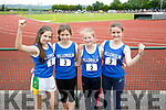 l-r  Maggie West, Amelia Schmahl, Hannah McGeever and Aoife O'Sullivan from Team Killorglin at the An Riocht  Community Games in Castleisland on Saturday