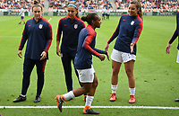 Houston, TX - Sunday April 8, 2018: USWNT, Crystal Dunn during an International friendly match versus the women's National teams of the United States (USA) and Mexico (MEX) at BBVA Compass Stadium.