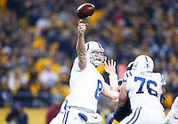 Matt Hasselbeck #8 of the Indianapolis Colts in action against the Pittsburgh Steelers during the game at Heinz Field on December 6, 2015 in Pittsburgh, Pennsylvania. (Photo by Jared Wickerham/DKPittsburghSports)