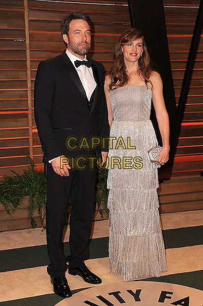 WEST HOLLYWOOD, CA - MARCH 2: Ben Afleck and Jennifer Garner arrive at the 2014 Vanity Fair Oscar Party in West Hollywood, California on March 2, 2014.  <br /> CAP/MPI/MPI213<br /> &copy;MPI213/MediaPunch/Capital Pictures