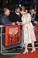 "Hari Nef<br /> arriving for the London Film Festival screening of ""Assassination Nation"" at the Cineworld Leicester Square, London<br /> <br /> ©Ash Knotek  D3450  19/10/2018"