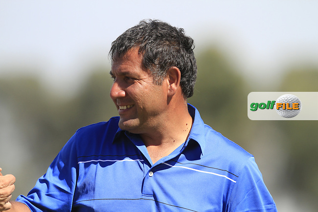 Ricardo Gonzalez (ARG) coming off the driving range after Round 2 of the Open de Espana  in Club de Golf el Prat, Barcelona on Friday 15th May 2015.<br /> Picture:  Thos Caffrey / www.golffile.ie