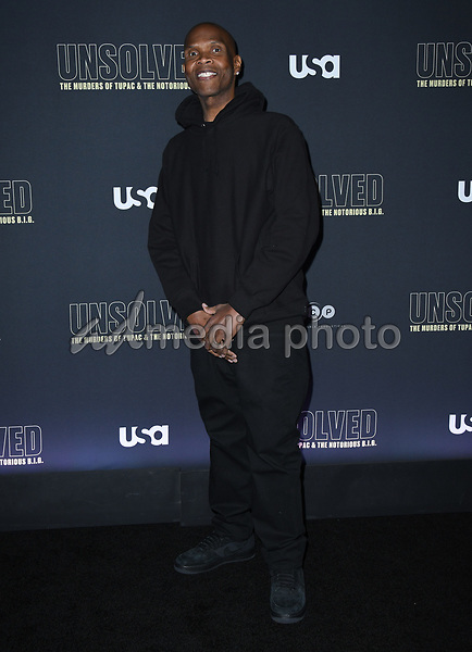"22 February 2018 - Hollywood, California - Big Boy. USA Network's ""Unsolved: The Murders of Tupac & The Notorious B.I.G."" held at Avalon Hollywood. Photo Credit: Birdie Thompson/AdMedia"