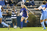 18 October 2012: Duke's Erin Koballa. The University of North Carolina Tar Heels defeated the Duke University Blue Devils 2-0 at Koskinen Stadium in Durham, North Carolina in a 2012 NCAA Division I Women's Soccer game.