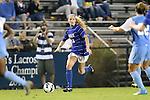 18 October 2012: Duke's Erin Koballa. The University of North Carolina Tar Heels defeated the Duke University Blue Devils 2-0 at Koskinen Stadium in Durham, North Carolina in a 2012 NCAA Division I Women's Soccer game.