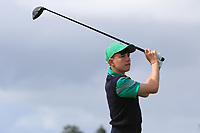 Brandon St. John (Portmarnock) on the 10th tee during the Final round in the Connacht U16 Boys Open 2018 at the Gort Golf Club, Gort, Galway, Ireland on Wednesday 8th August 2018.<br /> Picture: Thos Caffrey / Golffile<br /> <br /> All photo usage must carry mandatory copyright credit (&copy; Golffile | Thos Caffrey)