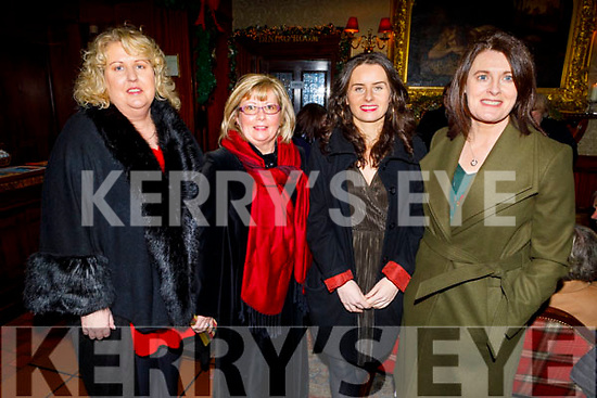 Staff of St John of Gods enjoying their Christmas party in the Grand Hotel on Friday.<br /> L to r: Jane O'Driscoll, Mary Canty, Mags Carmody and Trish Munday,