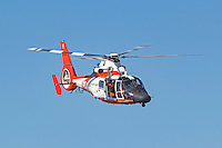 USCG MH-65 Dolphin from Air Station San Francisco in flight.