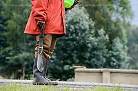 RWANDA, Ruhengeri, village Busogo, man with machete, the weapon of the killer during genocide 1994