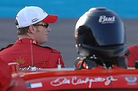 Apr 19, 2007; Avondale, AZ, USA; Nascar Nextel Cup Series driver Dale Earnhardt Jr (8) during qualifying for the Subway Fresh Fit 500 at Phoenix International Raceway. Mandatory Credit: Mark J. Rebilas