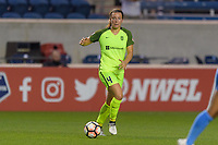 Bridgeview, IL - Wednesday August 16, 2017: Rachel Corsie during a regular season National Women's Soccer League (NWSL) match between the Chicago Red Stars and the Seattle Reign FC at Toyota Park. The Seattle Reign FC won 2-1.