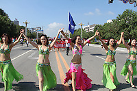 The chinese city Huludao has broken the world record for the largest ever bikini parade with a total of 1,085 women, aged between 4 and 70, who marched for more than a mile wearing bikinis. Officials from the Guiness Book of World Records attended the event and issued a certificate to confirm the new record. The parade was part of the 2nd China International Beach & Bikini Culture Exposition. The previous record was held by 450 women in Panama City, Florida, who walked a mile through the city in March. Huludao, Liaoning, China, 19.08.2012..Credit: Topphoto/face to face/MediaPunch Inc. ***FOR USA ONLY*** ***Online Only for USA Weekly Print Magazines*** /NortePhoto.com<br />
