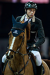 Martin Fuchs of Switzerland riding Picsou du Chene at the the Massimo Dutti Trophy during the Longines Hong Kong Masters 2015 at the AsiaWorld Expo on 15 February 2015 in Hong Kong, China. Photo by Juan Flor / Power Sport Images