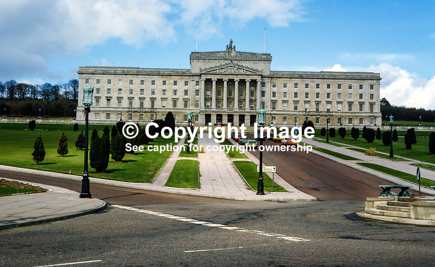 Parliament Building, Stormont, Belfast, N Ireland, UK, 19850413PB2..Copyright Image from Victor Patterson, 54 Dorchester Park, Belfast, UK, BT9 6RJ..Tel: +44 28 9066 1296.Mob: +44 7802 353836.Voicemail +44 20 8816 7153.Skype: victorpattersonbelfast.Email: victorpatterson@mac.com.Email: victorpatterson@ireland.com (back-up)..IMPORTANT: If you wish to use this image or any other of my images please go to www.victorpatterson.com and click on the Terms & Conditions. Then contact me by email or phone with the reference number(s) of the image(s) concerned.