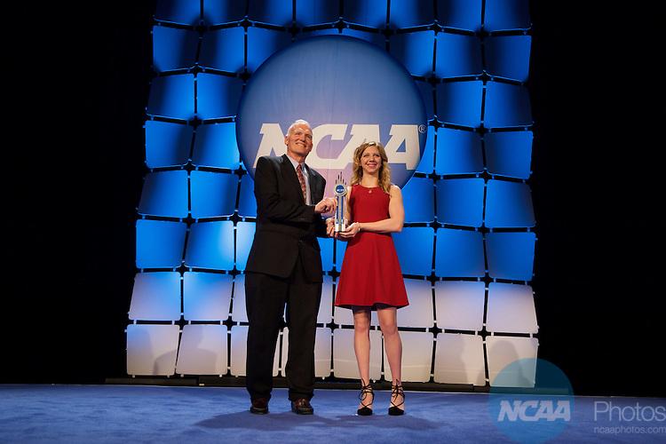 15 JAN 2016:  The NCAA Honor's Celebration takes place during the 2016 NCAA Convention at the Grand Hyatt San Antonio in San Antonio, TX.   Jamie Schwaberow/NCAA Photos  (Pictured:  Anastasia Bogdanovski)
