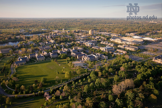 May 16, 2011; Aerial looking northeast..Photo by Matt Cashore/University of Notre Dame
