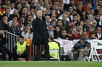 25.04.2012 SPAIN -  UEFA Champions League Semi-Final 2nd leg  match played between Real Madrid CF vs  FC Bayern Munchen 2 (1) - 1 (3) at Santiago Bernabeu stadium. The picture show Jose Mourinho  coach of Real Madrid