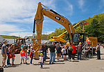 """Torrington, CT 051819MK13 A large turn out of familes came to enjoy and get close to heavy equipment at the O&G Industries' annual Touch a Truck Family Fun Event at their maintenance facility on Saturday Morning.  Seth Duke, marketing director, said """" With the weather so nice today we will receive over two-thousand attendees and the suggested donations will be donated to Kids Play to help with their continued development.""""  O&G's Jim Zambero, vice president of equipment purchase and maintenance, said that sixty volunteers and twentyfive local vendors helped host the event while members of the Operational Engineer's Union Local #478 directed traffic and managed parking . Michael Kabelka / Republican-American"""