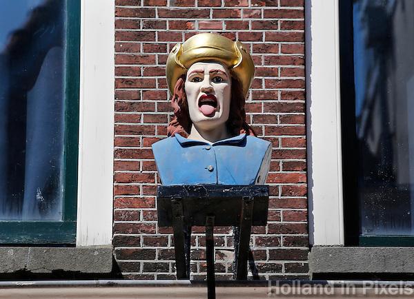 Nederland Leiden  2016  06 24 . Gaper in de Haarlemmerstraat. Foto Berlinda van Dam / Hollandse  Hoogte