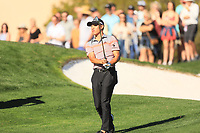 2nd February 2020, TPC Scottsdale, Arizona, USA;  Collin Morikawa watches his approach shot on the second hole during the final round of the Waste Management Phoenix Open