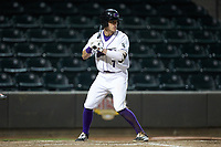 Zach Remillard (7) of the Winston-Salem Dash at bat against the Salem Red Sox at BB&T Ballpark on April 20, 2018 in Winston-Salem, North Carolina.  The Red Sox defeated the Dash 10-3.  (Brian Westerholt/Four Seam Images)