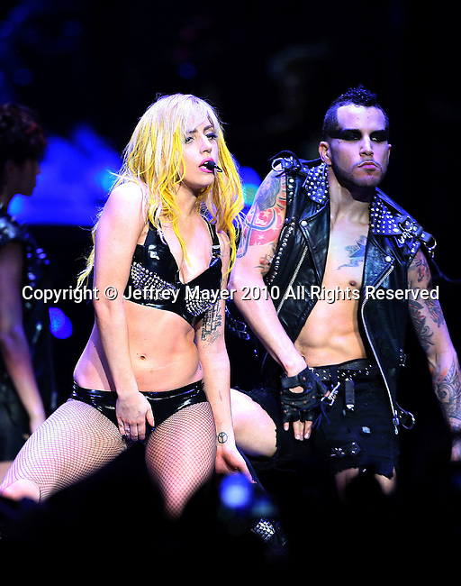LOS ANGELES, CA. - August 11: Lady Gaga performs in concert at Staples Center on August 11, 2010 in Los Angeles, California.