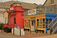 A colorful architecture  on Commercial street in Provincetown  Cape Cod.