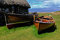 Isle of Skye, old houses and boats at Colbost Folk Museum, Dunvegan<br /> Scotland May 8th - 19th. Trip across Scotland<br /> Foto Samantha Zucchi Insidefoto