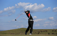 Will Poole during Round Two of the West of England Championship 2016, at Royal North Devon Golf Club, Westward Ho!, Devon  23/04/2016. Picture: Golffile | David Lloyd<br /> <br /> All photos usage must carry mandatory copyright credit (&copy; Golffile | David Lloyd)