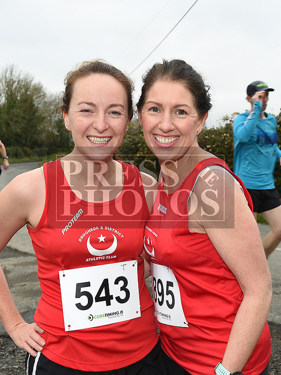 Laura Roche and Yvonne McMahon who took part in the Noel Carroll 10k race at Annagassan. Photo:Colin Bell/pressphotos.ie