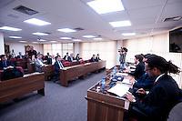 SAO PAULO, SP, 04.05.2015 - CORRUPÇÃO DEBATE - Membros da Ordem dos Advogados do Brasil (OAB) de São Paulo, participam de assembléia pública, para debater meios de combate à corrupção na sede da OAB-SP nesta segunda-feira 04. (Foto: Gabriel Soares/Brazil Photo Press)