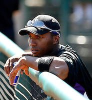 Jonathan Herrera - Colorado Rockies - 2009 spring training.Photo by:  Bill Mitchell/Four Seam Images