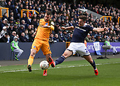 17th March 2019, The Den, London, England; The Emirates FA Cup, quarter final, Millwall versus Brighton and Hove Albion; Ryan Leonard of Millwall challenges Martín Montoya of Brighton & Hove Albion