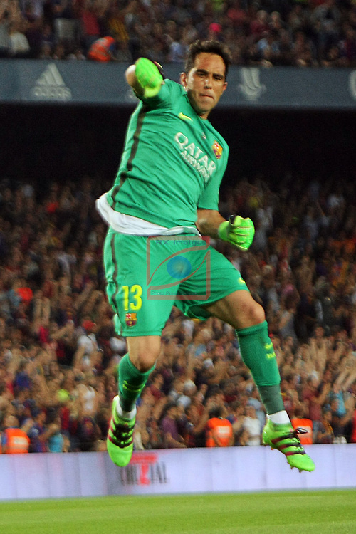 League Santander 2016/2017.<br /> Supercopa de Espa&ntilde;a - Vuelta.<br /> FC Barcelona vs Sevilla FC: 3-0.<br /> Claudio Bravo.