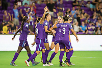 Orlando, FL - Tuesday August 08, 2017: Marta Vieira Da Silva , Orlando Pride celebrate a goal during a regular season National Women's Soccer League (NWSL) match between the Orlando Pride and the Chicago Red Stars at Orlando City Stadium.