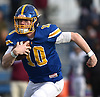 Matthew Sluka #10, Kellenberg quarterback, runs 36 yards for a touchdown on his team's first play from scrimmage in the NYCHSFL Class AA final against Xavier (Manhattan) at Mitchel Athletic Complex in Uniondale on Saturday, Nov. 17, 2018. He totaled five touchdowns (three rushing, two passing) with 111 yards on the ground and 111 yards in the air to lead the Firebirds to a 41-6 win.