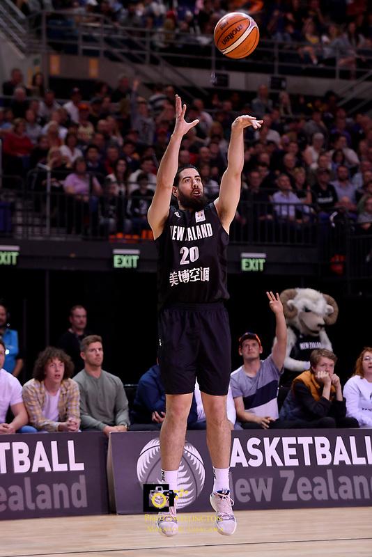 New Zealand Tall Blacks&rsquo; Jordan Ngatai in action during the FIBA World Cup Basketball Qualifier - NZ Tall Blacks v Jordan at Horncastle Arena, Christchurch, New Zealand on Thursday 29 November  2018. <br /> Photo by Masanori Udagawa. <br /> www.photowellington.photoshelter.com