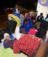 BOGOTA, COLOMBIA - April 13:  Immigrants from Venezuela rest on a street as they head to their country due to COVID-19 pandemic on April 13, 2020 in Bogota, Colombia. COVID-19 pandemic has now at least 2 million cases worldwide and  1,864,629 people dead.  (Photo by Daniel Munoz/VIEWpress)