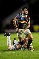 Harlequins' Danny Care in action during todays match<br /> <br /> Photographer Bob Bradford/CameraSport<br /> <br /> Aviva Premiership Round 20 - Harlequins v Exeter Chiefs - Friday 14th April 2016 - The Stoop - London<br /> <br /> World Copyright &copy; 2017 CameraSport. All rights reserved. 43 Linden Ave. Countesthorpe. Leicester. England. LE8 5PG - Tel: +44 (0) 116 277 4147 - admin@camerasport.com - www.camerasport.com