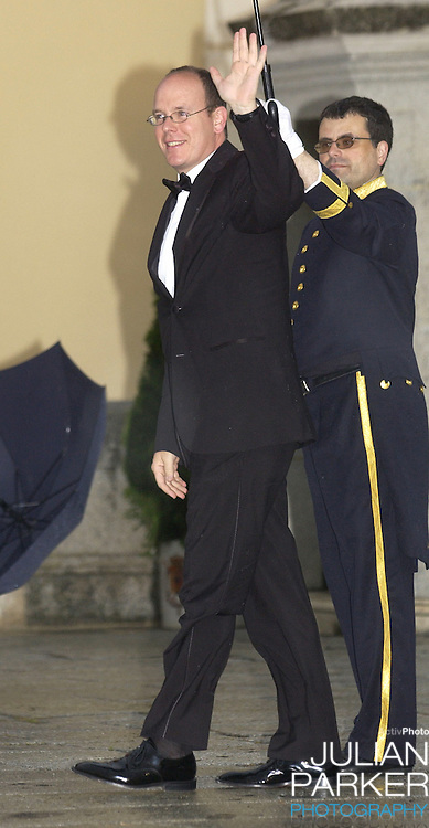 Prince Albert of Monaco attends a Gala Dinner at the El Pardo Royal Palace in Madrid..Picture: UK Press