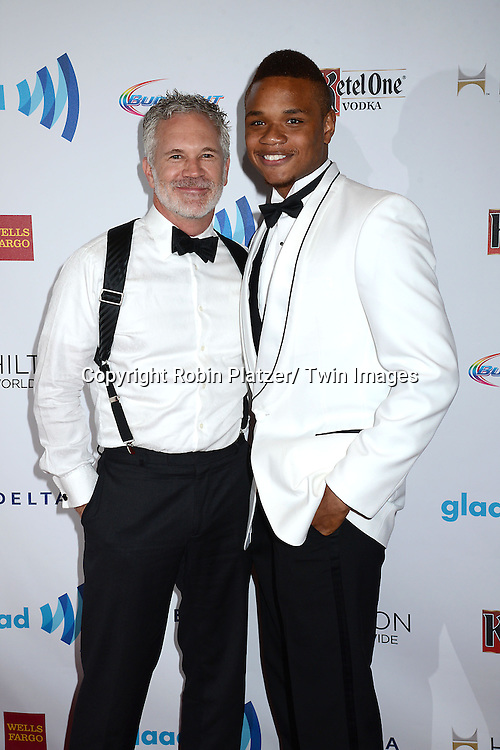 Gerald McCullouch and Derrick Gordon  attend the 25th Annual GLAAD Media Awards at the Waldorf Astoria Hotel in New York City, NY on May 3, 2014.